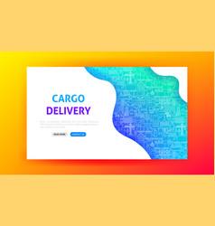 Cargo delivery landing page vector