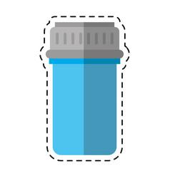 cartoon container capsule medicine icon vector image