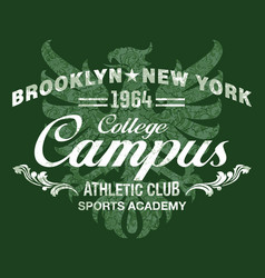 college athletic club damask gryphon background vector image