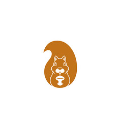 creative squirrel animal logo vector image