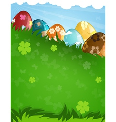 Decorated easter eggs vector image