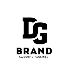 dg letter strong and bold logo vector image