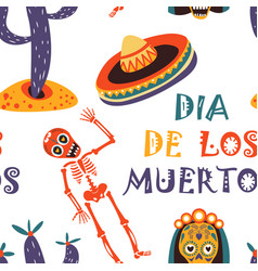Dia de los muertos greeting card for vector