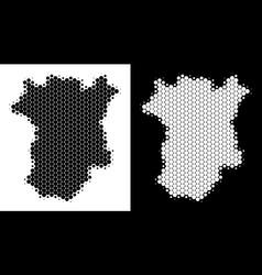 Dot halftone chechnya map vector