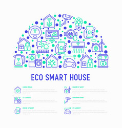 eco smart house concept in half circle vector image