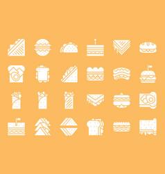 Fast food sandwich such as shawarma salad vector