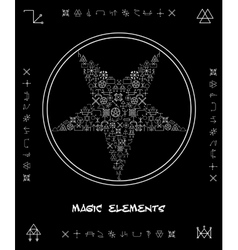 Five-pointed star magical elements vector