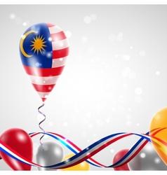 Flag of Malaysia on balloon vector