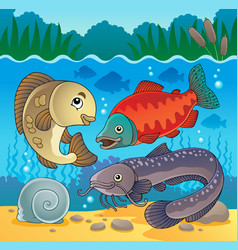 Freshwater fish theme image 5 vector