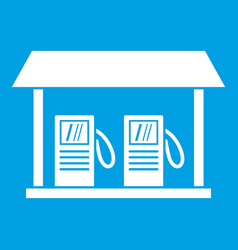 gas station icon white vector image