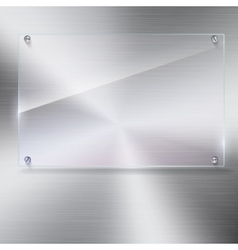 glass frame with rivets vector image vector image