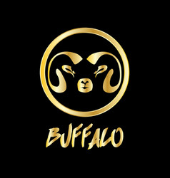 gold buffalo symbol vector image