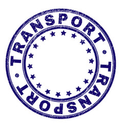 Grunge textured transport round stamp seal vector