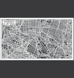 Guadalajara mexico city map in retro style vector