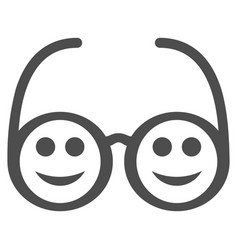 happy spectacles flat icon vector image