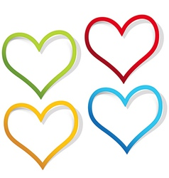 Heart labels vector image