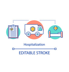 Hospitalization concept icon admission to vector