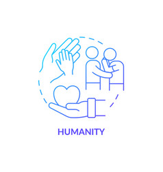 Humanity against people suffering concept icon vector