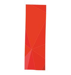 I red alphabet letter isolated on white background vector