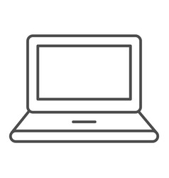 laptop thin line icon notebook vector image