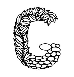 Letter alphabet g vector