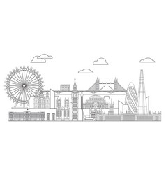 London skyline line art 5 vector