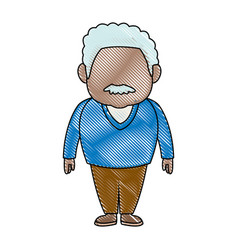 man character adult people avatar male image vector image
