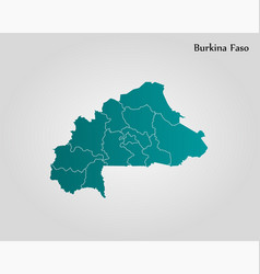 map burkina faso vector image