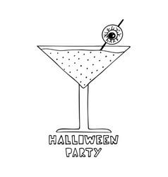 monochrome with halloween vector image