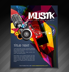 music party flyer design vector image