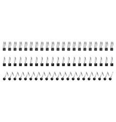 Notebook spirals wired binding notebook sheets vector