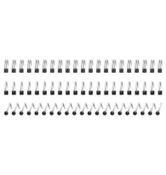 Notebook spirals wired binding sheets vector