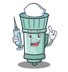 Nurse flashlight cartoon character style vector