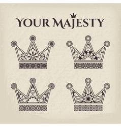 Ornamental Crowns vector image