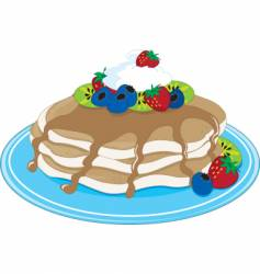 pancakes fruit vector image