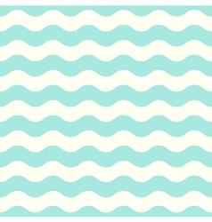Pastel seamless retro wave Pattern - Mint vector image