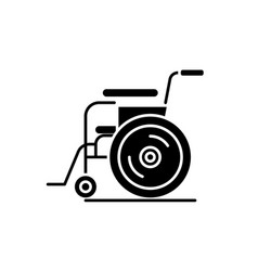 patient chair black icon sign on isolated vector image