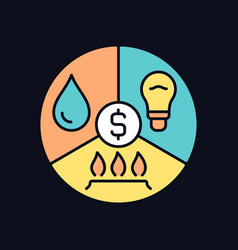 Paying bills rgb color icon for dark theme vector