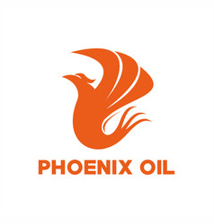 Phoenix oil logo vector