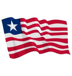 Political waving flag of liberia vector