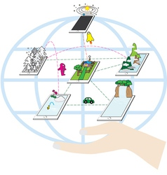Power of technology vector