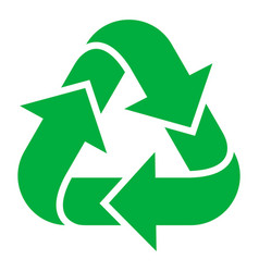 recycling green icon pollution and environmental vector image