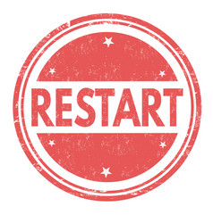 restart grunge rubber stamp vector image