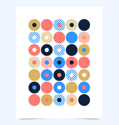 retro graphic design cover or poster with circle vector image