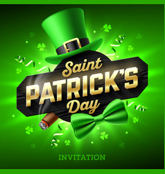 Saint patricks day party invitation feast of vector
