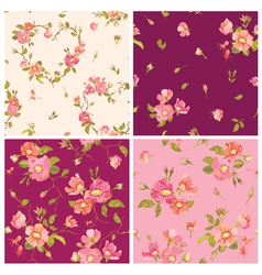 Set of Roses Background vector image