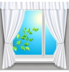 Spring window vector