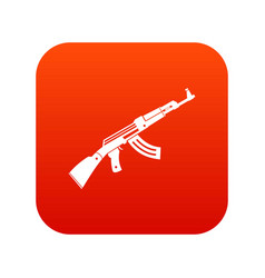submachine gun icon digital red vector image