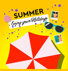 Summer holiday and summer camp poster travel vector