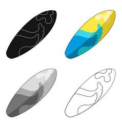 Surfboard for surfing wavessummer rest vector